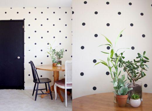 DIY Polka Dot Wall by Ruffles And Stuff