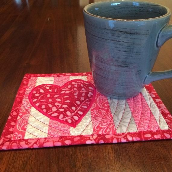 Looking for your next project? You're going to love Valentines Mug Rug Pattern by designer 2minutes2stitch.
