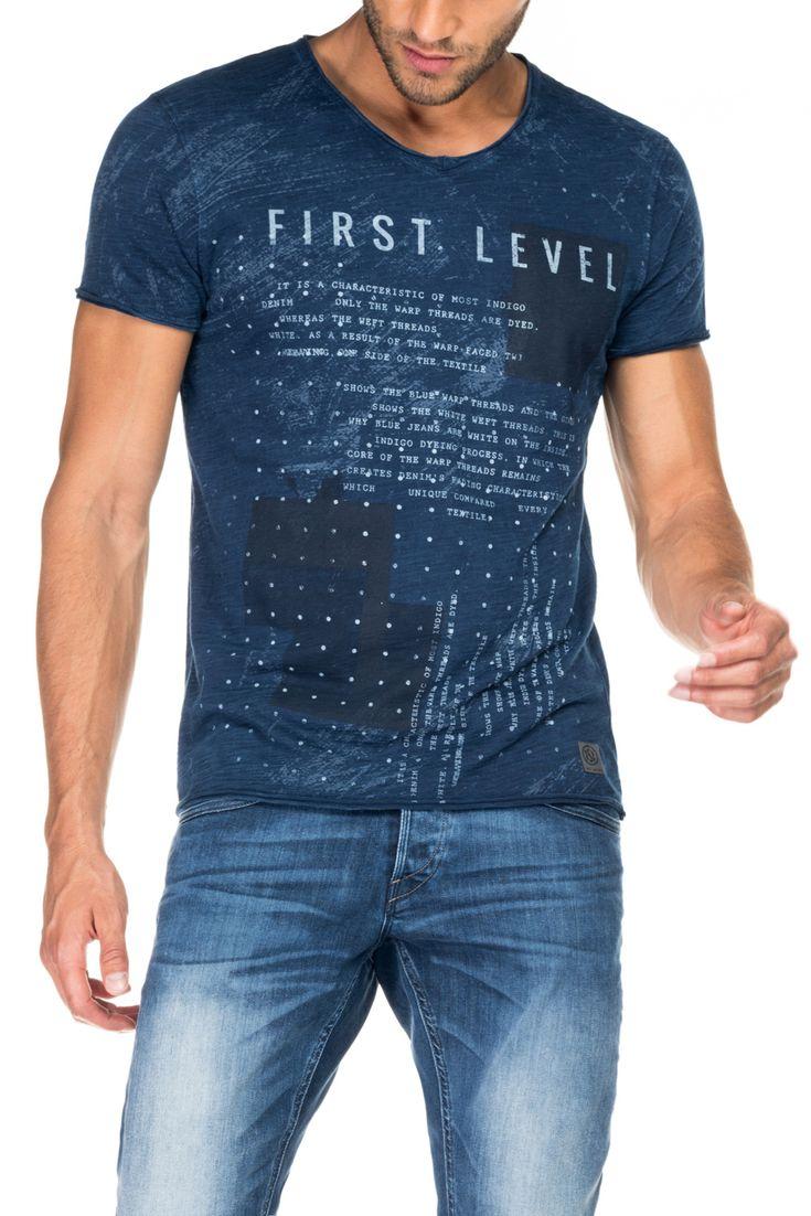 T-shirt 1st level com gráfico a laser   115688 Azul   Salsa