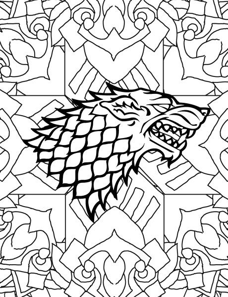 Adult Coloring Pages House Of Starks BooksFree