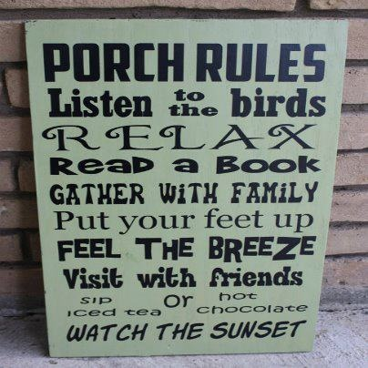 :)Porches Signs, Crossword Puzzles, Screens Porches, Summer Porches, Drinks Coffe, Sweets Teas, Back Porches, Porches Rules, Front Porches