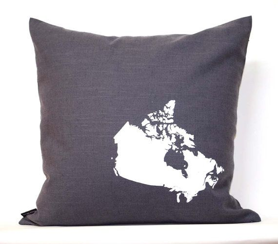 map of canada pillow