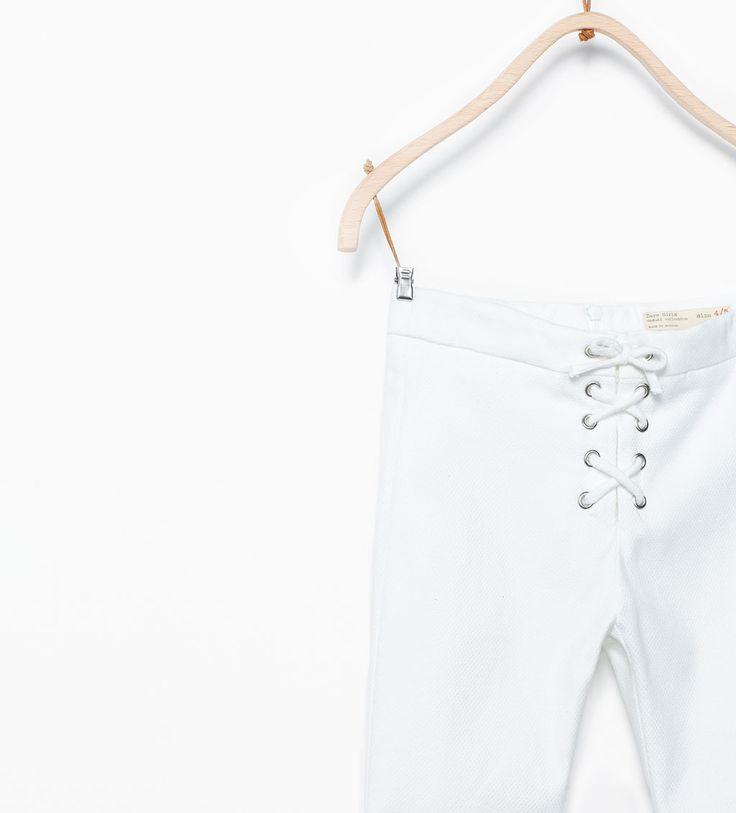 Image 3 de Pantalon avec cordons de Zara