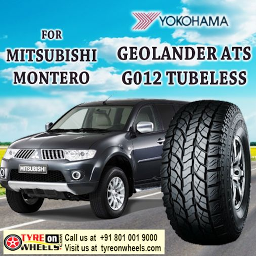Buy Tyres Online for Mitsubishi Montero of Yokohama Geolander ATS G012 Tubeless Tyres and also get fitted with Mobile Tyre fitting Vans at your doorstep at Guaranteed Low Prices buy now at http://www.tyreonwheels.com/tyres/Yokohama/GEOLANDER-ATS/663