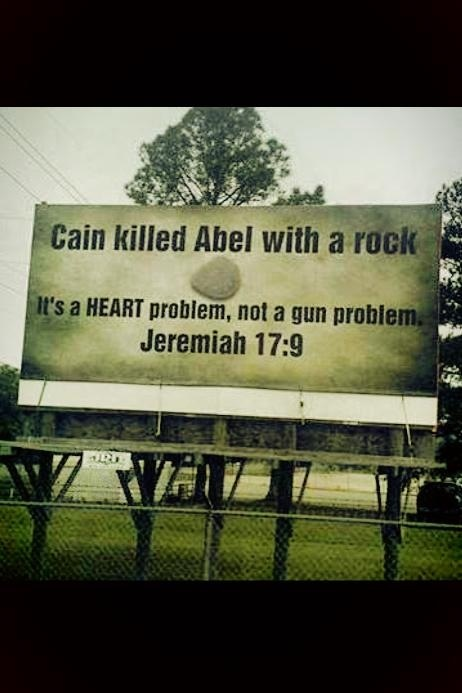Cain killed abel with ...