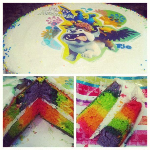 rainbow cake!Yummy Yummy, Rainbow Cakes, Rainbows Cake