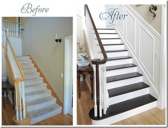 stain + molding = big difference!