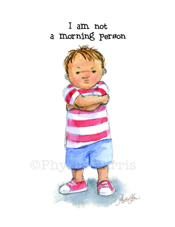 Image result for caricature pictures of two kids saying good morning