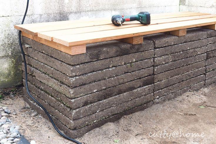 Gartenbank Diy Aus Waschbetonplatten Sitzfl 228 Che