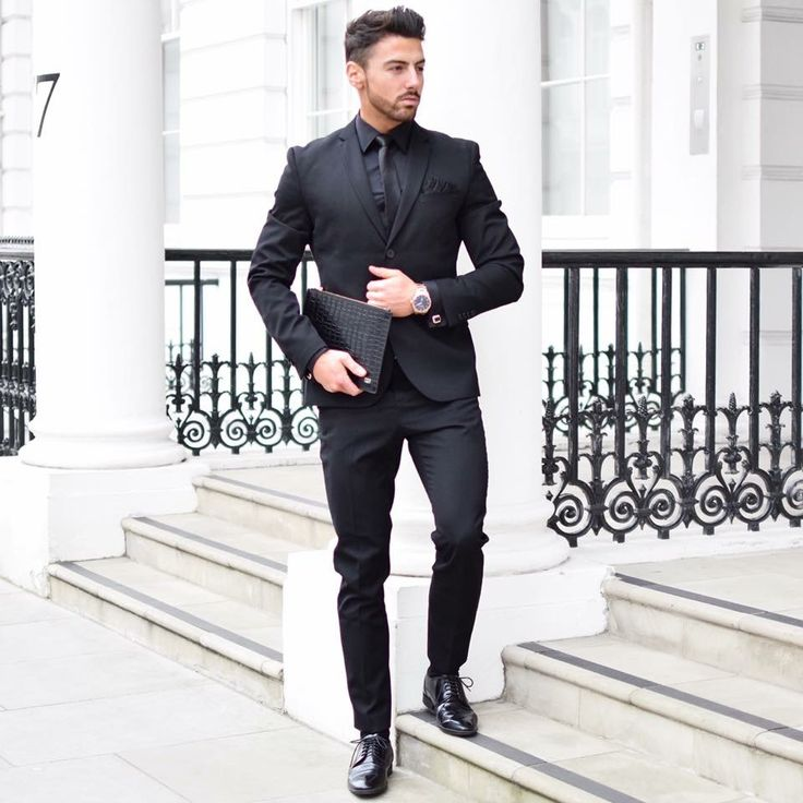 The 25  best All black suit ideas on Pinterest | Black suits ...