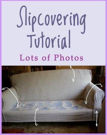 17 Tips (and Tutorial) on Making Slipcovers