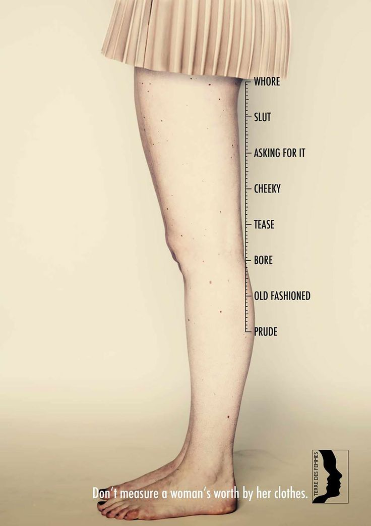 Don't Measure A Woman's Worth By Her Clothes: A brilliant ad campaign created for Terre Des Femmes, a Swiss human rights organization focusing on gender equality and feminism, reminds us that the worth of a woman should never be measured by something like the neckline of her blouse or height of her heels.