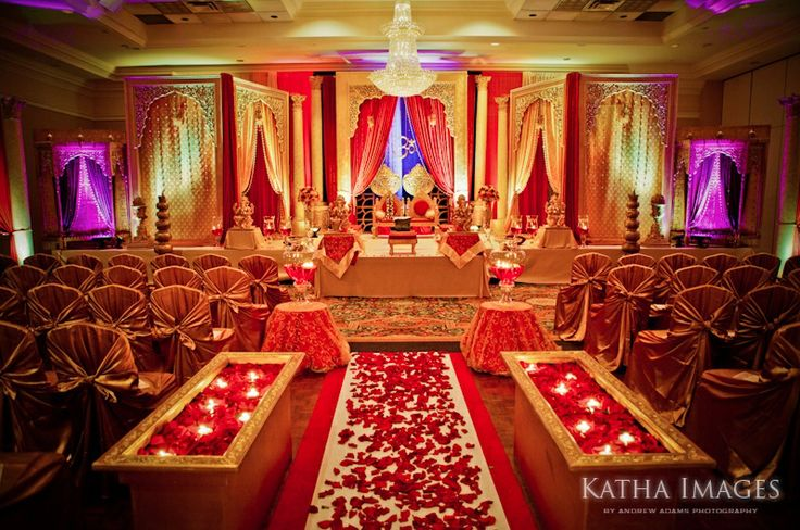 Place Settings Gold Red Wedding Traditional Indian