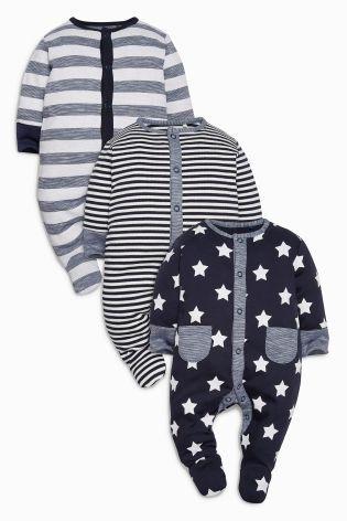 Kaufen Sie Pyjama-Sets im 3er-Pack mit amerikanischer Flagge, marineblau (0 Monate bis 2 Jahre) heute online bei Next: Deutschland