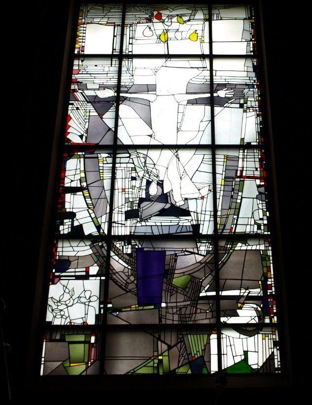 Georg Meistermann (1911-1990) in de St. Franciscus kerk in Mainz-Lerchenberg