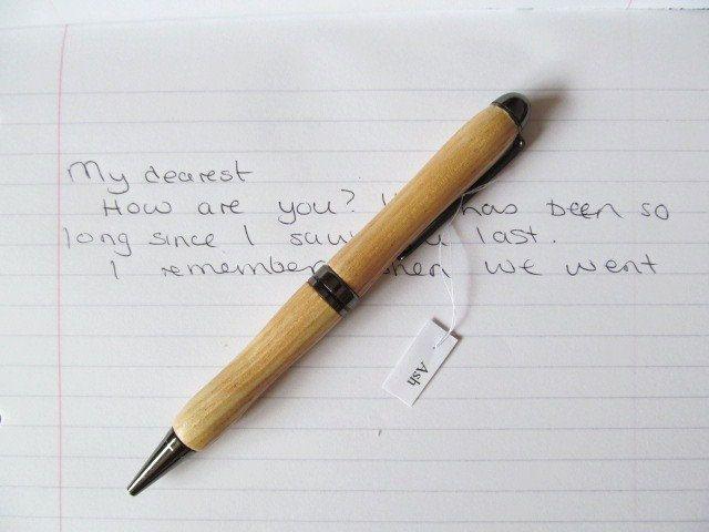 Hand Turned Ash Wood Pen by LittleScottishThings on Etsy