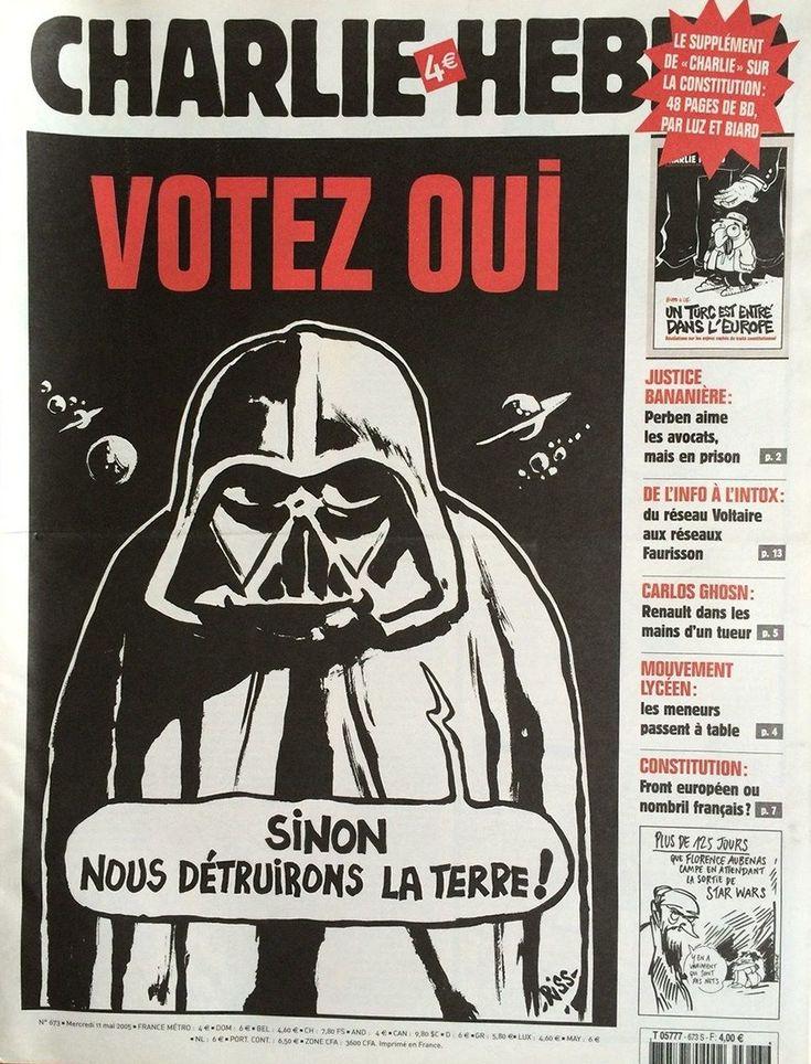 Charlie Hebdo - # 673 - 11 Mai 2005 - Couverture : Riss