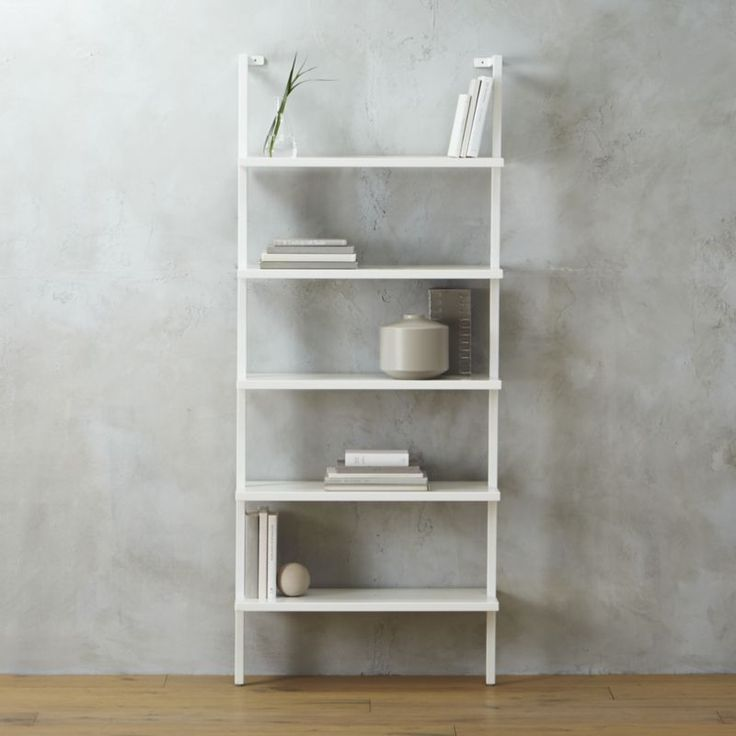 """Urban Ladder Kitchen Shelf: Stairway White 72.5"""""""" Wall Mounted Bookcase"""