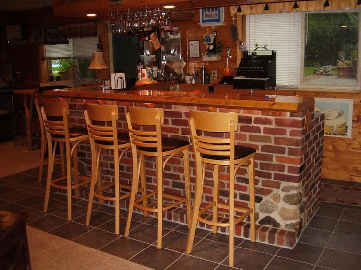 Brick Home Bar Designs And Layouts