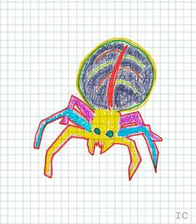 Ilustración arte animal araña