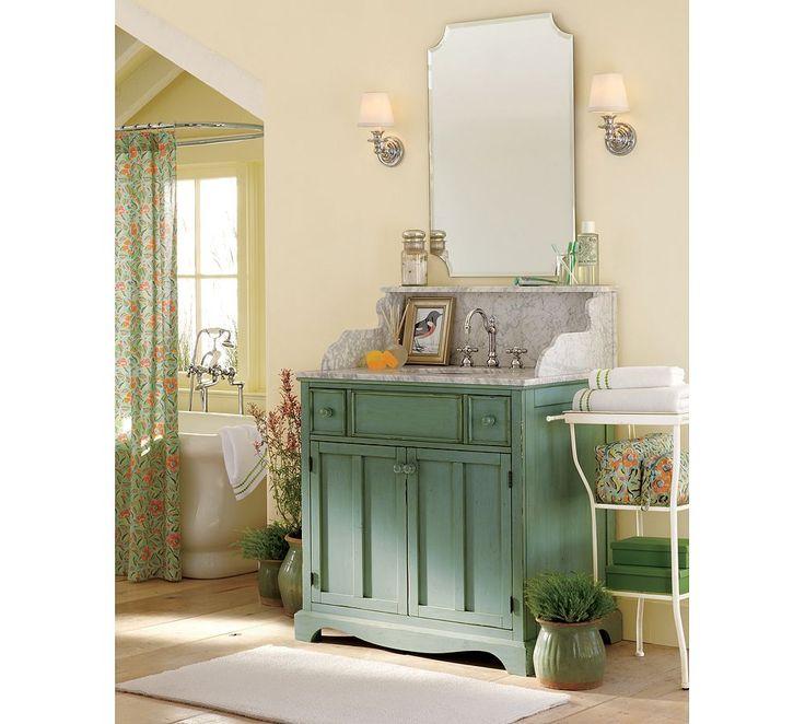 Eleanor Frameless Mirror from Pottery Barn #bathroom by lela