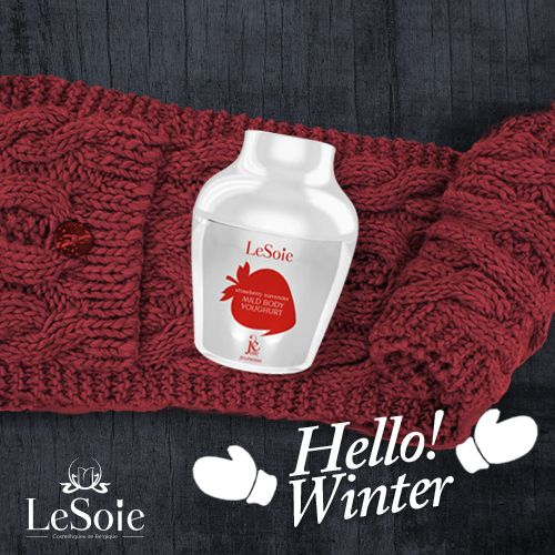 Time for unique solutions from LeSoie's products that will leave your skin extra silky and ready for winter cruelness Try out this mild Body yoghurt scented with creamy and sweet strawberry. just Smooth a nut of cream after washing or even during the day and your skin will feel elastic and healthy Get it from here : http://goo.gl/LuTng2