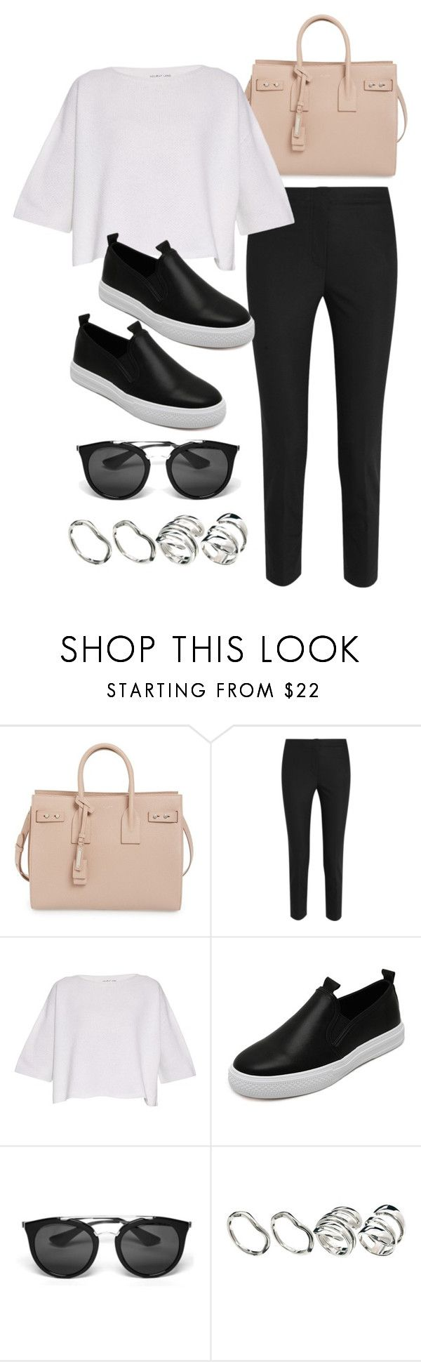 """Sin título #12415"" by vany-alvarado ❤ liked on Polyvore featuring Yves Saint Laurent, Helmut Lang, Prada and ASOS"