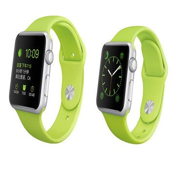 Couleur Series Soft TPU Sports Watchband 38mm 42mm Watch Strap For Apple Watch Sale - Banggood.com