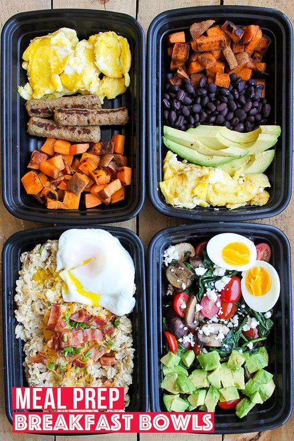 Make Ahead Breakfast Meal Prep Bowls 4 Ways Recipe Meal Prep