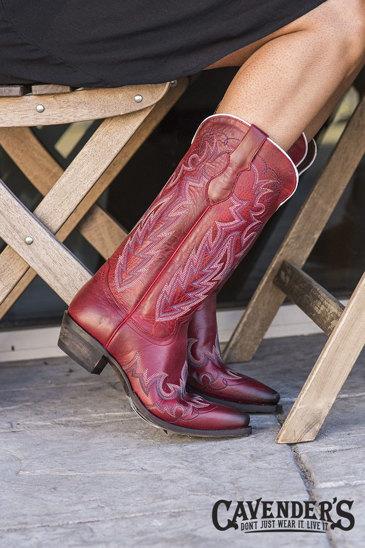 2f3cfc5e9c9 Justin Ladies Western Fashion Red Snip Toe Western Boots | BOOTS ...
