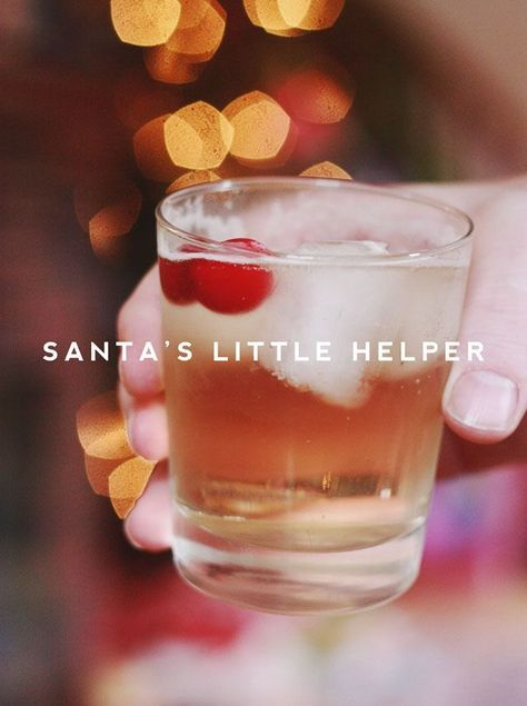 For anyone who needs a good cocktail to make it through the hustle and bustle, meet Santa's Little Helper. Cinnamon, Triple Sec, Ginger and Cranberry Infused Bourbon with sprite. (tip: soak the cinnamon and cranberries the night before in bourbon). #Yum