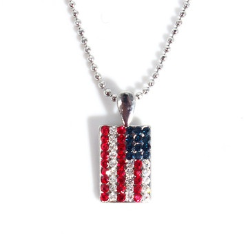 Fab.com   Jewelry To Start A ConversationPatriots Jewelry, Holiday 4Th, Fashion, Fab Com, Flags Necklaces, Converse, Rhinestones Flags, Products, Happy 4Th