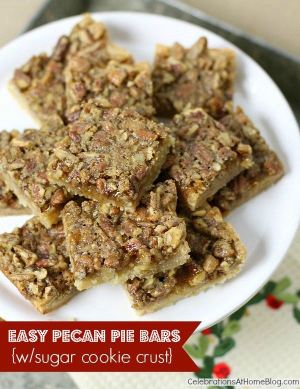 EASY PECAN PIE BARS WITH SUGAR COOKIE CRUST {& BAKING KIT GIVEAWAY}