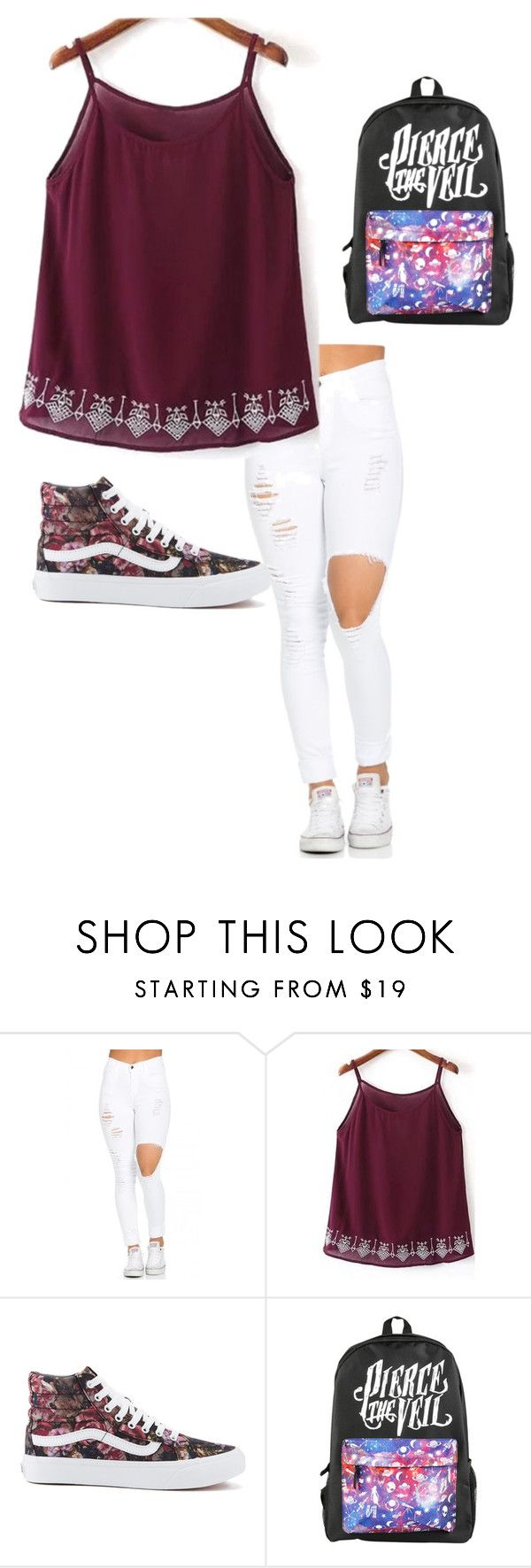"""""""Untitled #34"""" by moriartylauren on Polyvore featuring WithChic and Vans"""