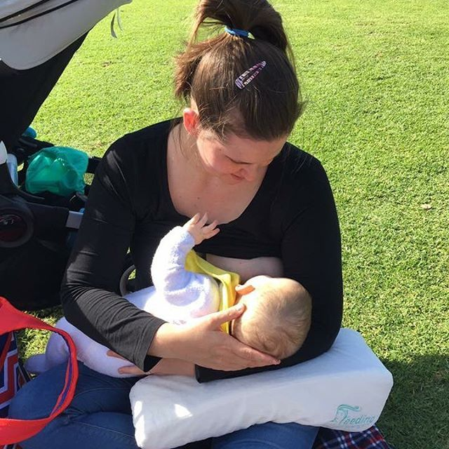 Took my new Feeding Friend on a trip to the park. It provided much needed support for me while I fed my little one. I wish I had one of these when I had my first baby. I would definitely recommend Feeding Friend, especially to new mothers still navigating breastfeeding. It might just be the help you need to comfortably feed while out and about. 💗💗💗🌞🌞🌞💗💗💗 Thank you for sharing this beautiful post; Follow us at: https://m.facebook.com/Feedingfriend/ #normalizebreastfeeding…
