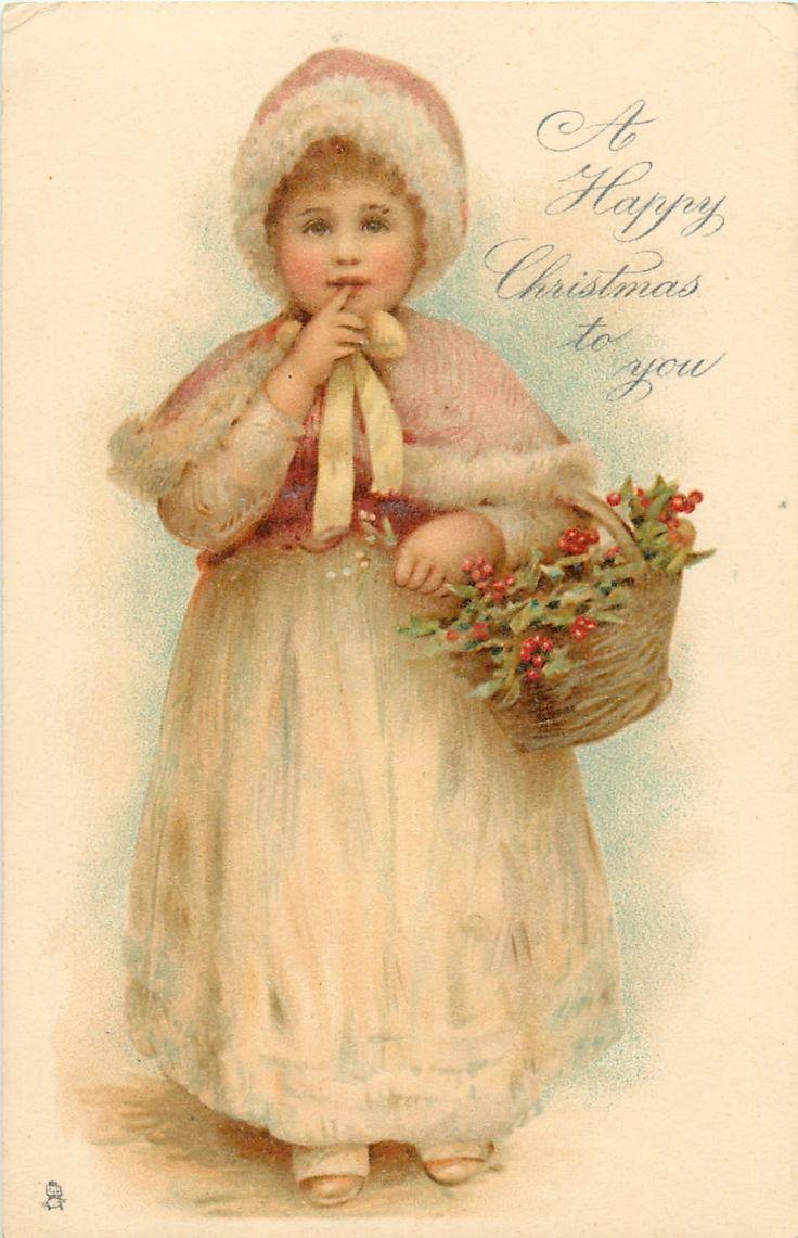 Винтажные рождественские открытки с детьми