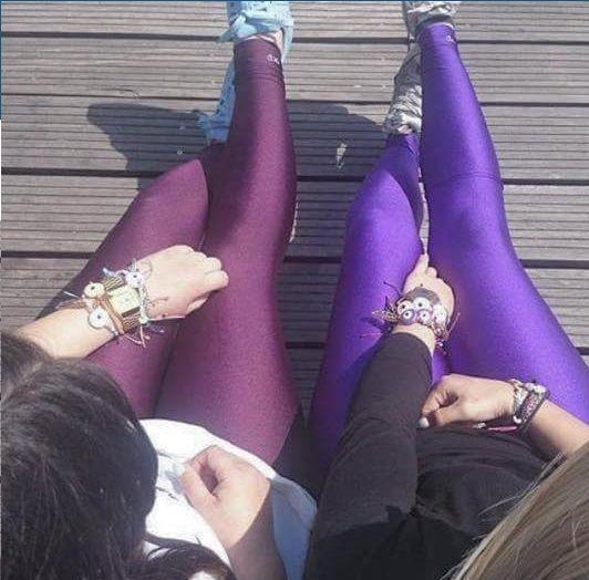 Aubergine and purple shiny #pcpleggings #pcpclothing #pcpinia