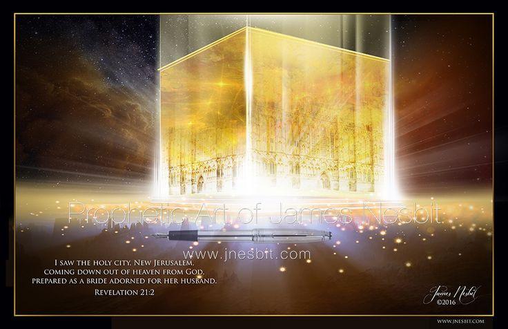 New Jerusalem — Products 3 – Prophetic Art of James Nesbit | Prophetic art, New jerusalem, Jerusalem