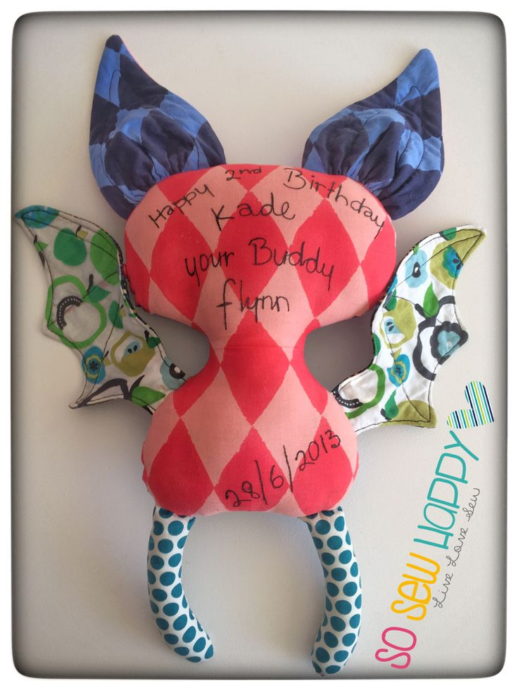 Handmade personalised birthday toy