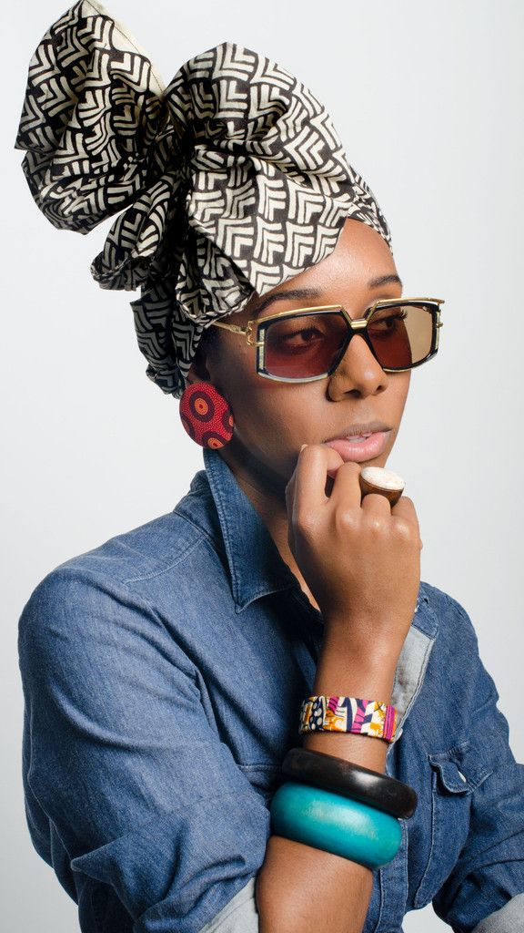 Ethnic Print Head Wrap in Dreamweaver   Styled with new old stock Vintage Cazal 329 c700 Germany and earrings by de Anne Juanita   via @aleapofstyle, Houston Designer Karissa Lindsay