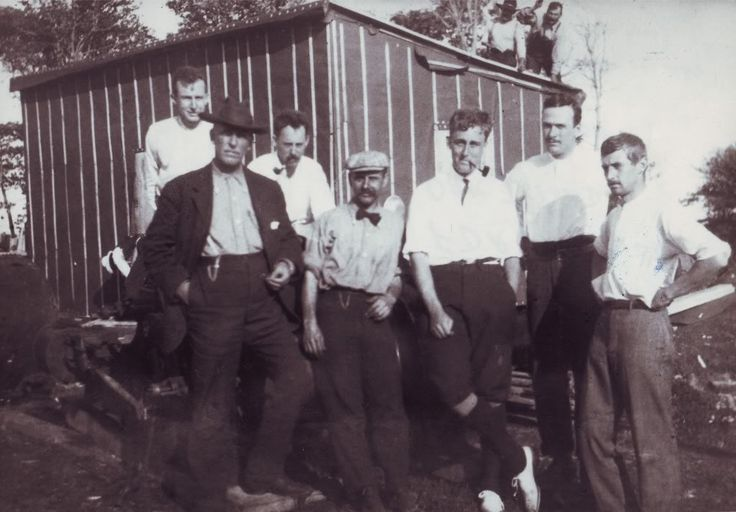 Franklin Delano Roosevelt (3rd from right) on Oak Island in 1909.