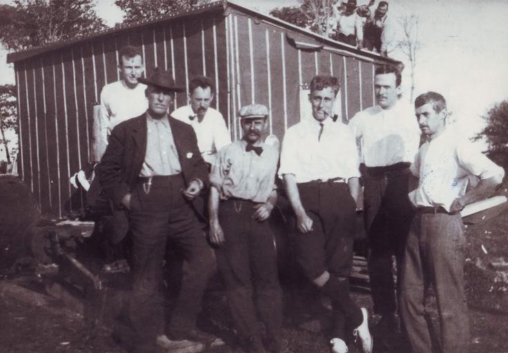 Franklin Delano Roosevelt (3rd from right) on Oak Island in 1909.