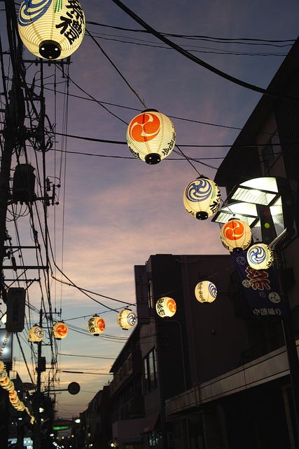Beautiful festival lanterns in Kichijoji, Tokyo. Who would like to see those in real life? #Japaneasy