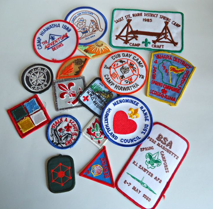 16 Vintage Boy Scouts Patches Patch Embroidered Badge 1980's by treasurecoveally on Etsy