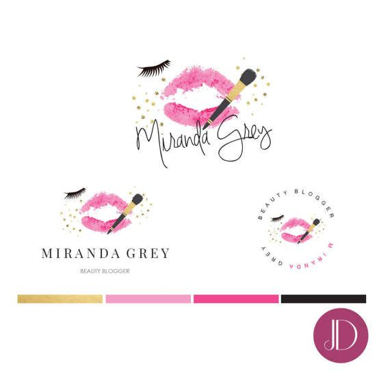 Premade logos are a great way to present your brand. Inexpensive way to add a professional touch to your business. This is great premade logo for beauty business, beauty bloggers, fashion and lifestyle bloggers, make up artists and more! Design Process: