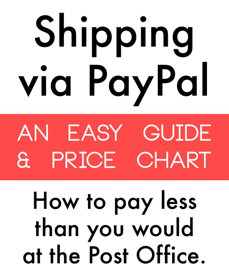 TUTORIAL: How to Ship via PayPal: An Easier and Cheaper Postage Alternative to the Post Office