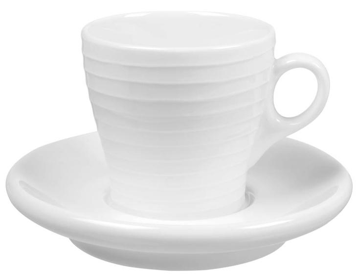 Länna Möbler - Blond Stripe Espressokopp med fat 10 cl Keramik från Design House Stockholm - Länna Möbler - Handla online
