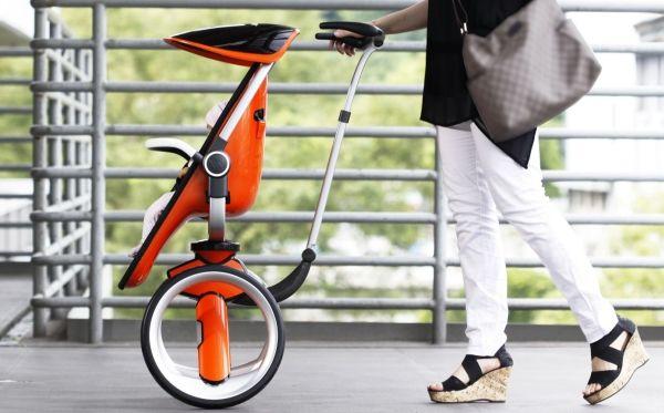 電車持ち込みが楽! コンパクトな2輪ベビーカー「Buggy Stroller」―ダイニングチェアとしても - えん乗り