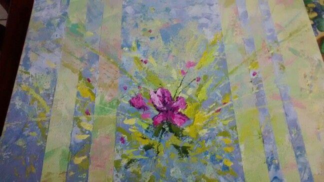 Dulce flor acrilico