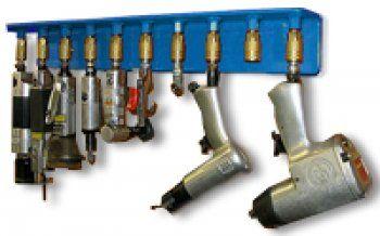 Air tool rack herramienta pinterest taller for Cobertizo de herramientas